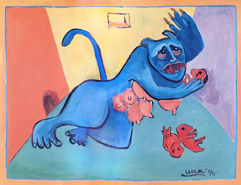 eating_ones_own_ii(1998),oil_on_canvas,44x57.5.min.min
