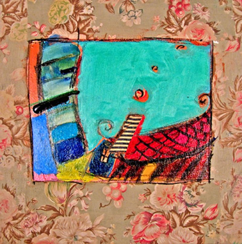 home_sweet_home_16x16_inches_mixed_media_on_fabric_2006.min