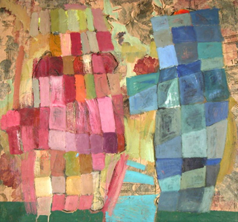 twins_33x33_inches_oil_on_fabric_2005.min