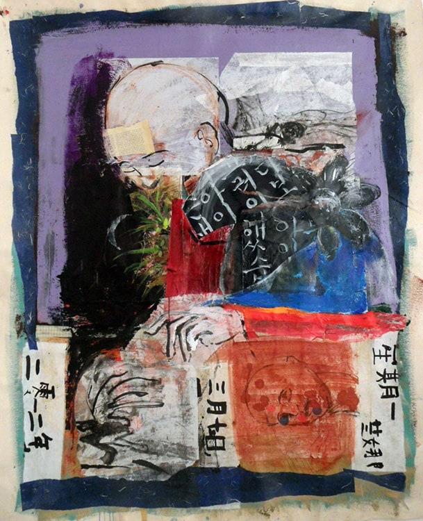 Meditation 61X50 inches, Mixed media on canvas.min-min