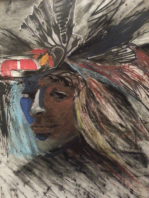 Native Citizen, 14 x 11 in, Mixed media on paper, 2014.min-min