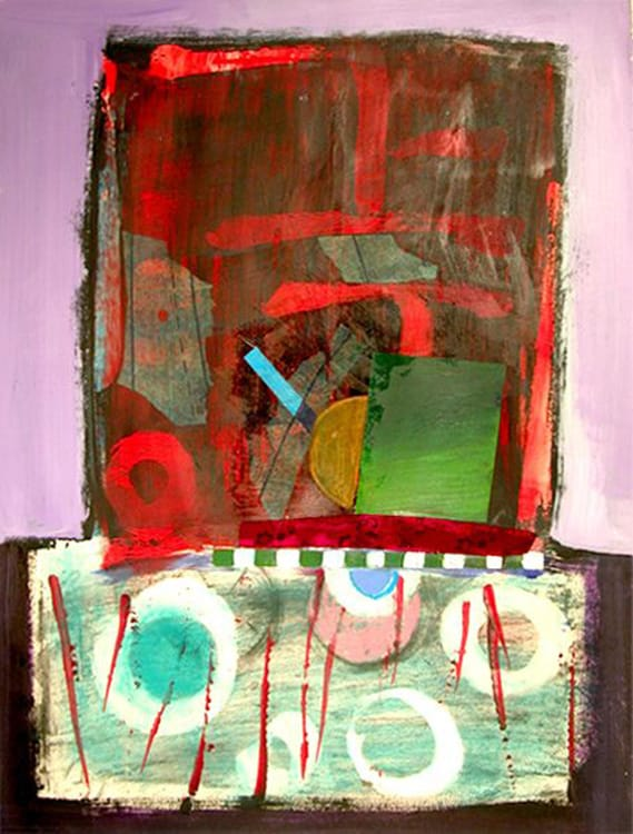 Top and Below, 22X30 inches, Mixed media on paper, 2010-min